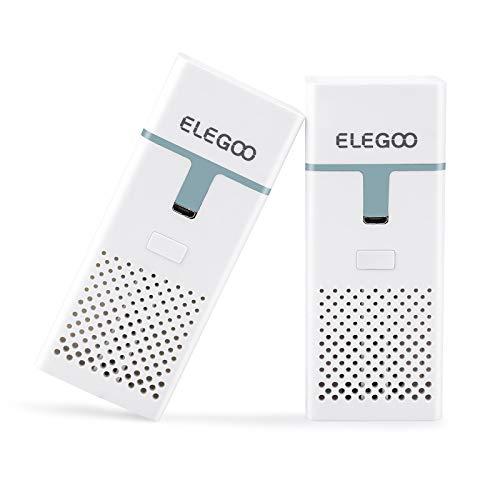 ELEGOO Mini Purificador de Aire con Filtro de Carbón Activado y Adaptador Universal para LCD DLP MSLA Impresora 3D de Resina (Paquete de 2)