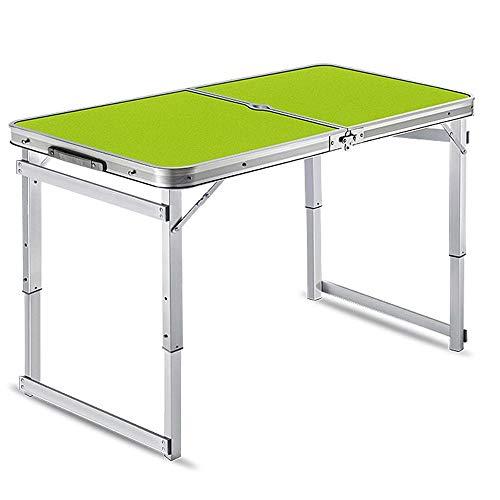 ZA Outdoor-klaptafel, draagbaar, in hoogte verstelbaar, thuis opvouwbare hefboomtafel, kunststof klaptafel voor picknick, camping, dining, party, car