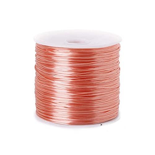 50m / rollo de cristal con abalorios de cordón de tramo hilo del cordón elástico para la fabricación de joyas de 0,7mm de hilo elástico de la cuerda de bricolaje de bricolaje Accesorios para collares