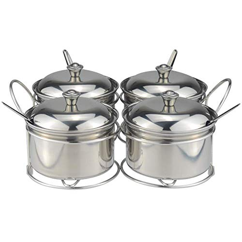hnxsy Commercial Stainless Steel Seasoning Combination Set Four-Flavor Seasoning Box Tank Combination