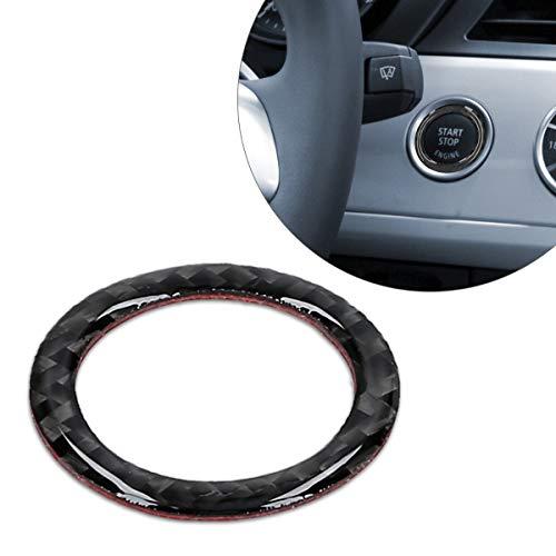 kwmobile Ringrahmen für Start/Stopp-Knopf kompatibel mit BMW 3er Serie E90/E91/E92/E93 - Flexibler und dekorativer Carbon-Ring - Carbon