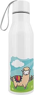 Happy Llamas Stainless Steel Water Bottle White