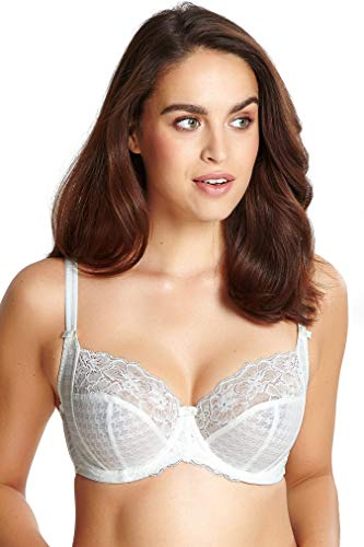 Panache Plus Size Women's Envy Balconnette Stretch Lace Bra, Ivory, 38J