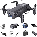 GACYSMD Drone COLLAPTING Control Remoto Mini Boy Toy Aplicar a la Mejor profesión de Regalo para Principiantes para Adultos (Gris)