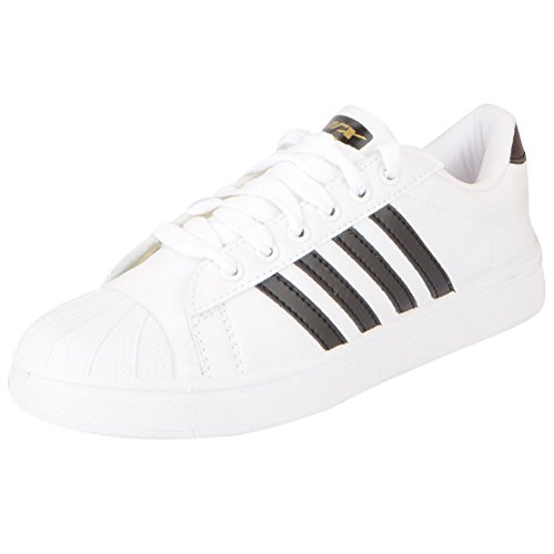 Sparx Men's White Black Sneakers-9 UK (SD0323G)
