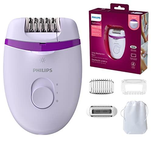 Philips BRE275/00 Satinelle Essential Epilatore Elettrico Compatto, 4 Accessori