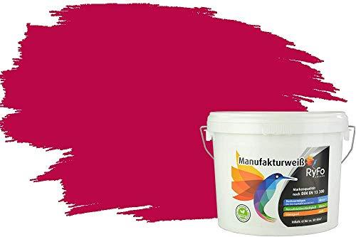 RyFo Colors Bunte Wandfarbe Manufakturweiß Bordeaux 3l - weitere Violett Farbtöne und Größen erhältlich, Deckkraft Klasse 1, Nassabrieb Klasse 1