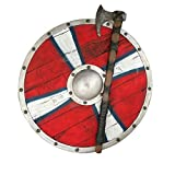 LOOYAR PU Foam Vikings Viking Age Middle Ages Medieval Round Shield Weapon Toy Adult Toy for Berserker Soldier Warrior Costume Battle Play Halloween Cosplay LARP
