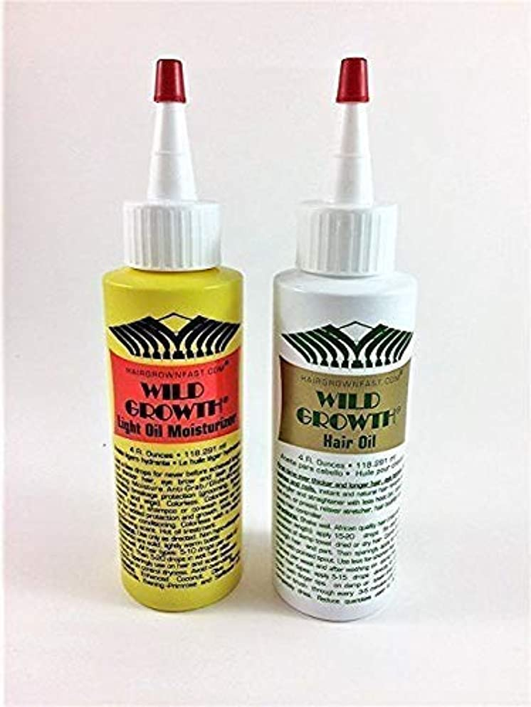 Wild Growth Set (Hair Oil 4 oz + Light Oil Moisturizer 4 oz)