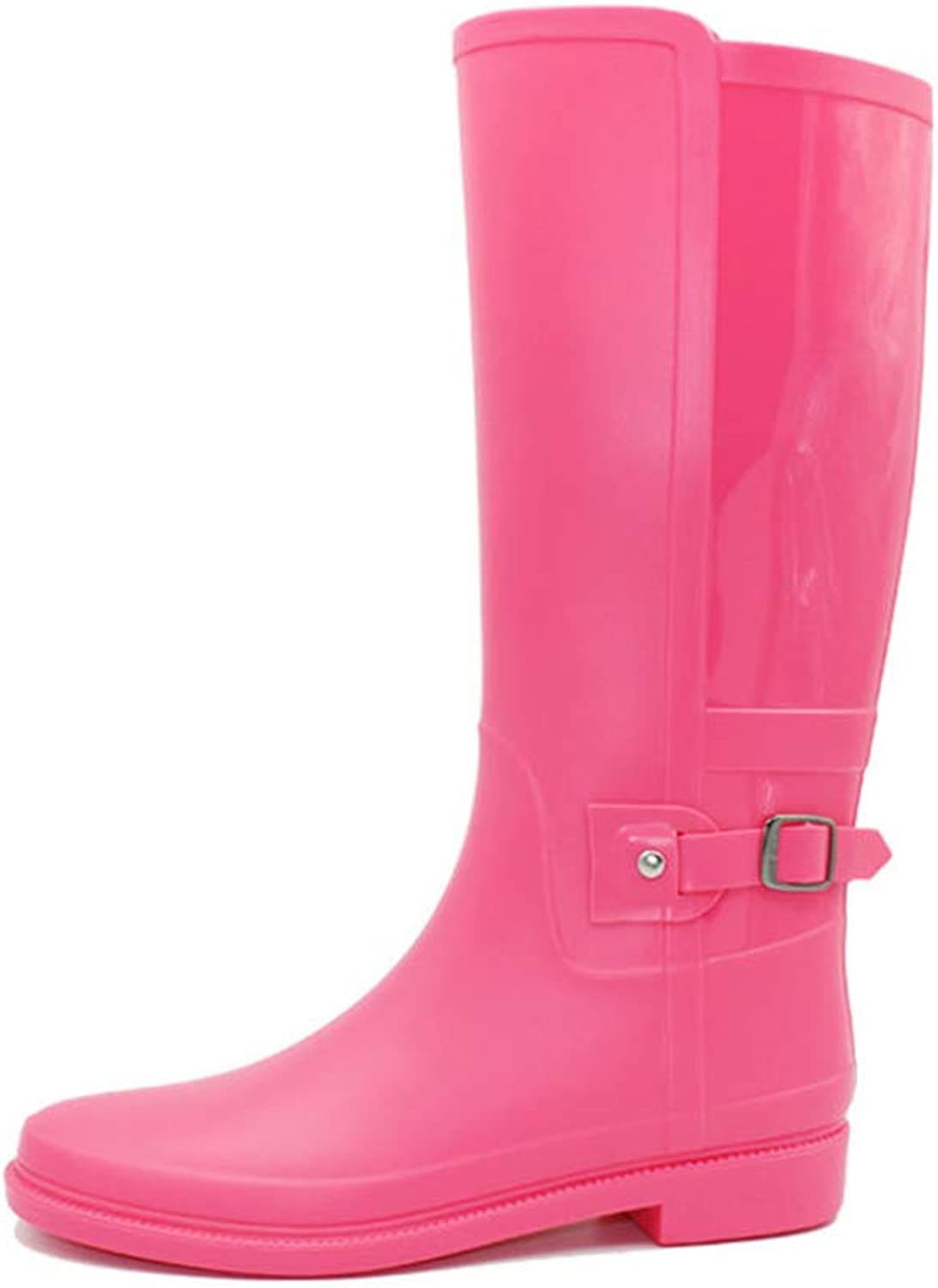 SUNNY Store Women's Mid Calf Waterproof Rubber Garden Rainboots