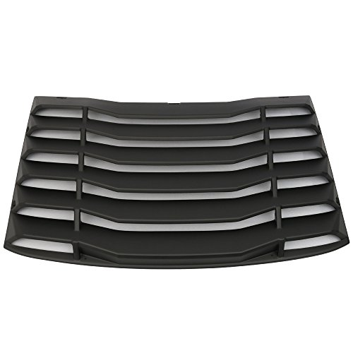 Windshield Louver Compatible With 2016-2020 Chevy Camaro | IKON Style Rear Window Louvers Cover Sun Shade ABS by IKON MOTORSPORTS | 2017 2018