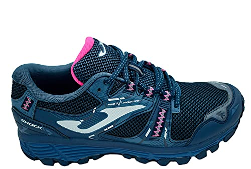 Deportivo JOMA Shock Lady 2103 TKSHLS2103 Mujer Trail Nylon Marino 26656 (Azul, Numeric_39)