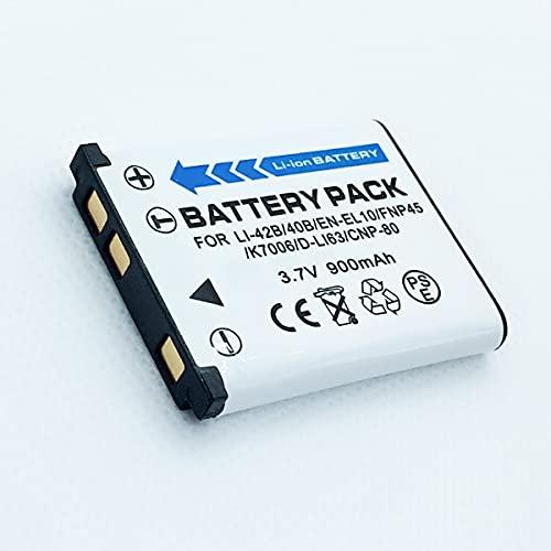 F-MINGNIAN-SPRING Paquete de baterías Recargables de Iones de Litio de Repuesto Compatible con Casio Exilim EX-S5, EX-S6, EX-S7, EX-S8, EX-S9 Accesorios para cámaras Digitales