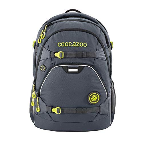 """coocazoo Schulrucksack ScaleRale """"Shadowman"""" schwarz, ergonomischer Tornister, höhenverstellbar mit Brustgurt und Hüftgurt für Jungen ab der 5. Klasse, 30 Liter"""