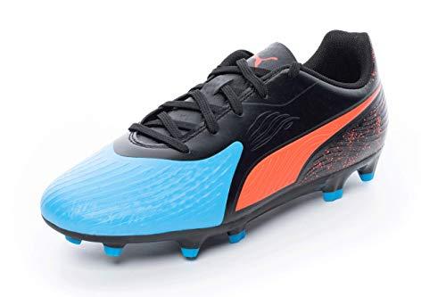 Puma Unisex ONE 19.4 FG/AG Jr Fußballschuhe, Blau (Bleu Azur-Red Blast Black), 37 EU