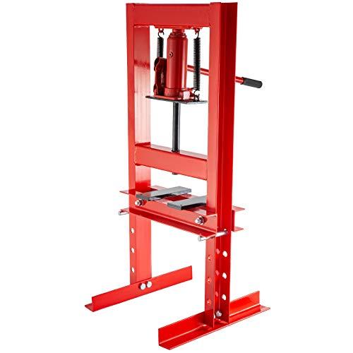 Mophorn Hydraulic Shop Press 6 Ton H-Frame Hydraulic Press 13227lbs with Heavy Duty Steel Plates