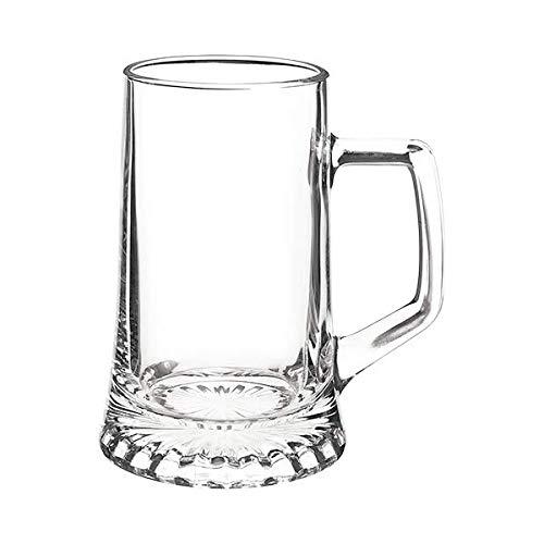 Bormioli Rocco 133640337 Stern - Jarra de cerveza (510 ml, cristal, transparente, 6 unidades)