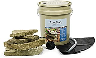 Aquascape AquaRock Water Fountain Kit for Landscape and Garden, Bluestone, Includes Real Stone, 5-Gallon | 97067