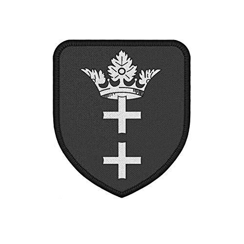 Copytec Patch Freie Stadt Danzig Wappen Abzeichen Polen Klett Uniform 75x65mm#36801