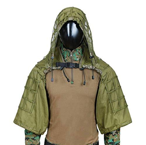 ZHhome Tarnanzug Tarnung Anzug, Verschlüsselung Verstärkung, für Camo Armee Militär Jagd schießen Airsoft Wildlife Fotografie, 3D Blatt Camouflage Colorr, Kind Erwachsener Optional (Color : B-2)