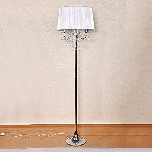 ZJZ Lámparas de pie, lámpara de cabecera de Dormitorio de Sala de Estar Europea de Cristal Lámpara de Mesa de Alta posición