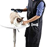 Rotagrod Delantal antiestático para Mascotas Esteticista Ropa de Trabajopara Perro Gato peluquería peluquería Tienda de Mascotas BellezaBataVestidoVenta-Negro_l