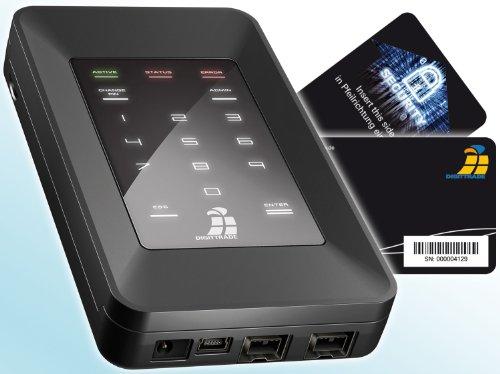 Digittrade HS128 2TB Externe Festplatte (6,35 cm (2,5 Zoll) USB 2.0) mit 128-Bit AES Hardware-Verschlüsselung, Smartcard und PIN schwarz