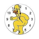 ザ・シンプソンズ 壁掛け時計 クロック 掛置兼用 時計 置き時計 掛け時計 静音 連続秒針 電池式 コンパクト 見易い シンプル デザイン 北欧インテリア 部屋装飾 プレゼント(25x25x0.5cm)
