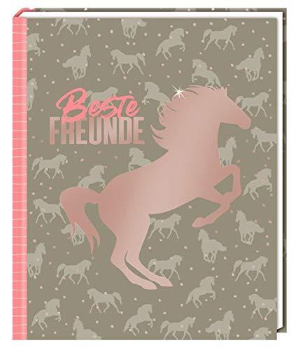 Freundebuch - I LOVE HORSES - Beste Freunde: (Muster) (Alben & Geschenke für Kinder)