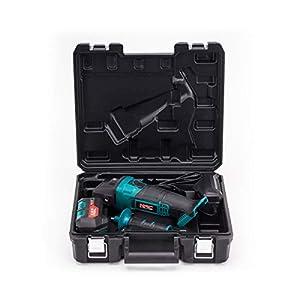 NAC NEW AMERICAN CONCEPT AGE-125-LI-B-20V Amoladora Angular 20 V, Juego Completo con Cargador y 1 batería de 4 Ah
