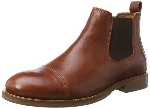 TEN POINTS Herren Oskar Chelsea Boots, Braun (Rust), 43 EU