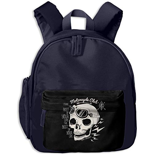 XCNGG Lightweight Kids Toddler Bags Fashion Skull and Geometric Printed Bookbag for Boy