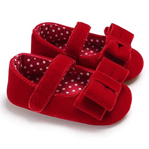 0-24 Meses Baby Girls Bowknot Princess Walking Zapatos