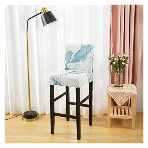 Stuhlbezug Stuhlabdeckung für Barhocker Stuhl Slipcover Stretch-Blumenabdeckungen für kurze Swivel-Dinning-Stuhl-Gegenhöhe Seitenstühle Set Polyestermaterial ( Color : Color 11 , Specification : 1PC )