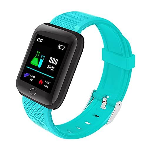 Reloj inteligente, pulsera inteligente de 1.44 pulgadas pantalla TFT frecuencia cardíaca presión arterial modo multideporte BT reloj IP67 impermeable pulsera para hombres mujeres (verde)