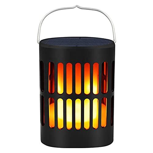 Farol Solar Exterior, 96 LED Luz Colgante Solar Del Jardín Con Efecto Llama, Lámpara Decoración Exterior Retro Impermeable IP65, Para Patio, Camino, Porche, Piscina Y Patio