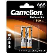 Camelion 17006203 Akku NI-MH HR03/Micro/ 600mAh/1,2V, 2er-Pack