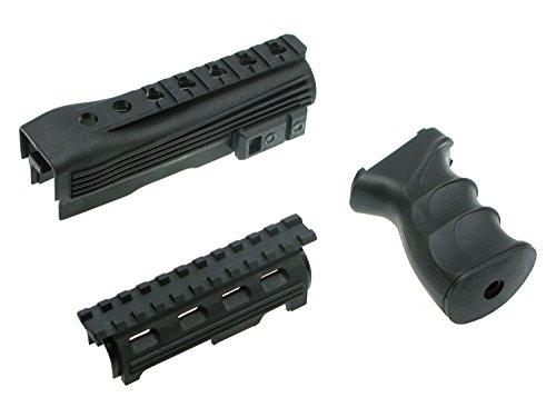 BEGADI Tactical Kit für Softair/Airsoft AK Modelle - bestehend aus Griff & Handschutz mit Rail