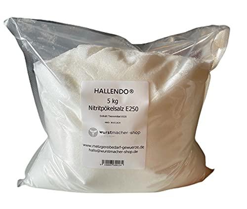 Pökelsalz Nitritpökelsalz 5 kg - 0,4 - 0,5% Nitritsalz E250 | HALLENDO®