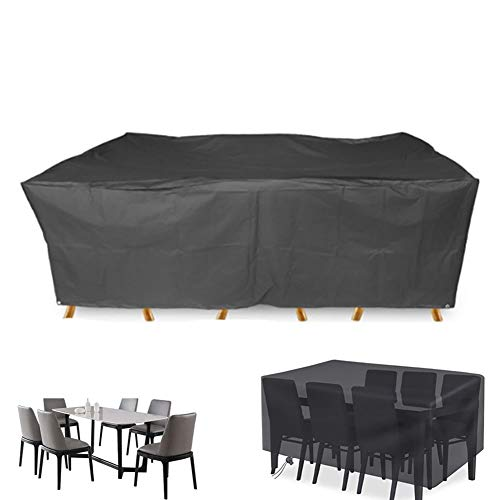 XGG Garden Furniture Cover Rectangular Cover for Outdoor Furniture Windproof, Anti-UV, 210D Heavy Duty Oxford Fabric Cube Set Table Cover for Patio, Outdoor67*37 * 27.55in