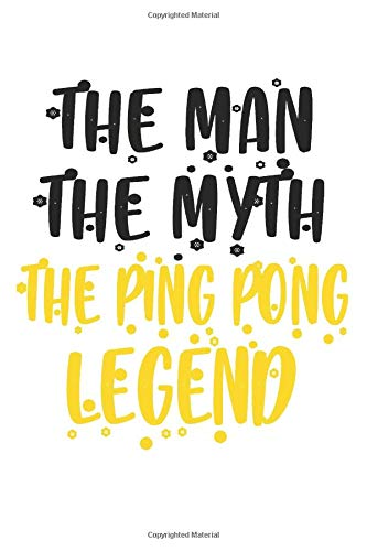 Ping Pong: Funny Ping Pong Notebook Journal | Ping Pong Tennis | For Tennis Players, Coaches And Everybody Who Loves Playing Tennis (6x9 inch | lined paper | Soft Cover | 100 Pages)