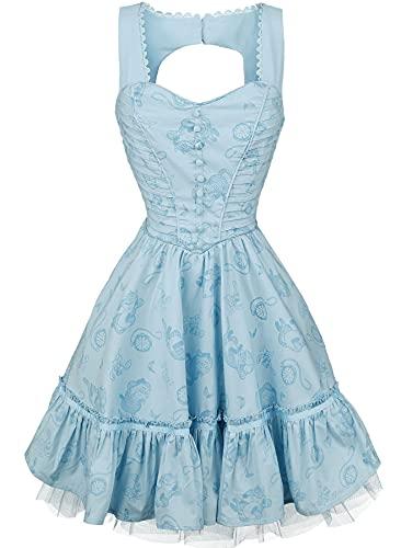 Alicia en el País de Las Maravillas Through The Looking Glass - Alice Classic Mujer Vestido Corto Azul XL