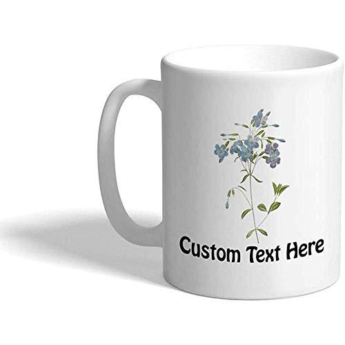 Tazza di caffè personalizzata 330 ml Fiore I5 Tazza da tè in ceramica botanica Testo personalizzato