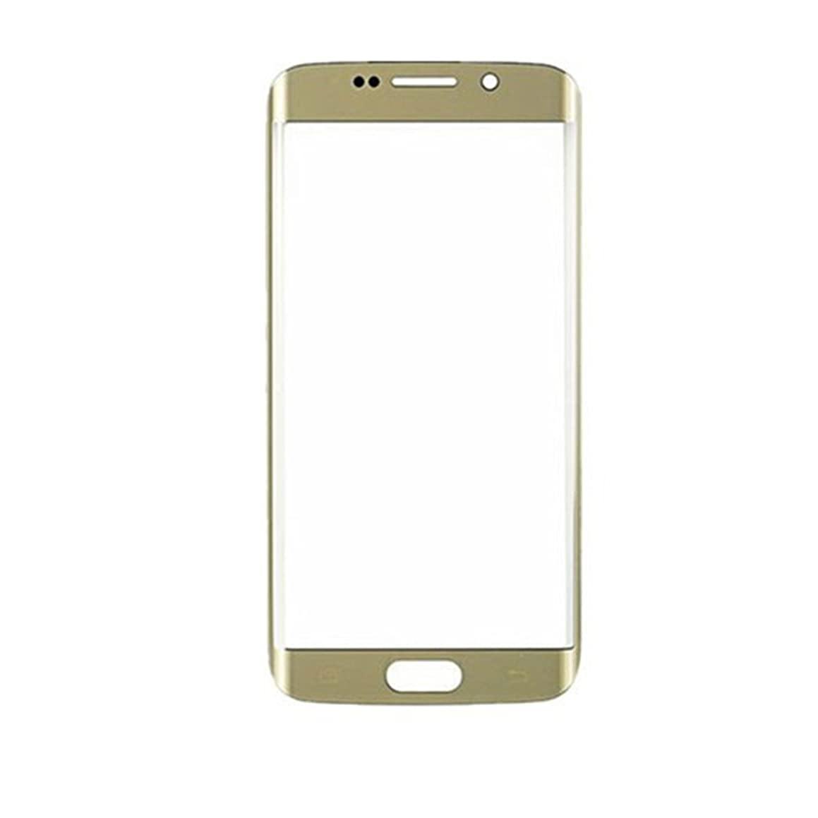 New Replacement Front Touch Screen Glass Outer Lens for Samsung for Galaxy S6 Edge SM- G925A G925P G925T G925V G925R4 G925F with Tools Kit and Adhesive (Gold)