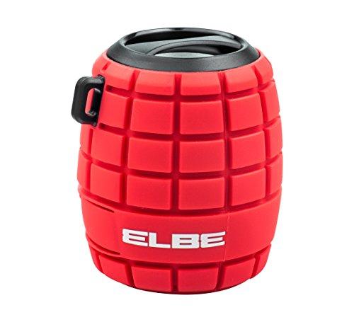 Elbe ALT-44WR-BT - Altavoz Bluetooth, con forma de granada, Aux-In, color rojo