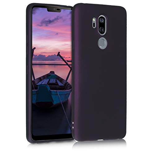 kwmobile LG G7 ThinQ/Fit/One Hülle - Handyhülle für LG G7 ThinQ/Fit/One - Handy Case in Metallic Brombeere