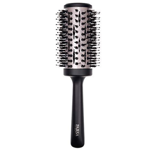Cepillo para el cabello Keratin Care & Shine de PARSA BEAUTY Cepillo redondo de cerámica de 44 mm con cepillo de cerdas de jabalí para cabello largo que necesita cuidado y brillo sedoso