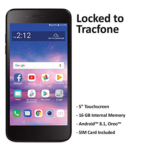 Tracfone Carrier-Locked LG Rebel 4 4G LTE Prepaid Smartphone - Black - 16GB - Sim Card Included -...