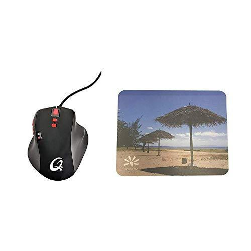 Qpad 5K Pro Optische Maus und Mauspad für Gaming 5K + Mouse Pad