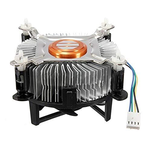Duradero Material de Aluminio CPU Ventilador de refrigeración Fresco PC PC Ventilador silencioso silencioso 775/1155/1156 Hermoso